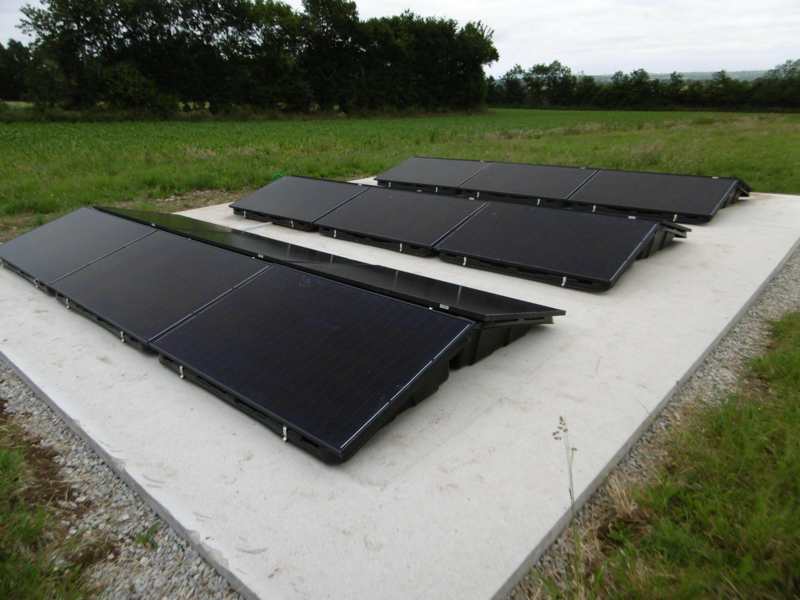 BBS installateur solaire a réalisé ce chantier d'une puissance de 6Kw pour de l'autoconsommation à Gouezec